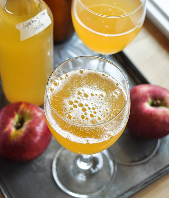cidre aux pommes pétillant