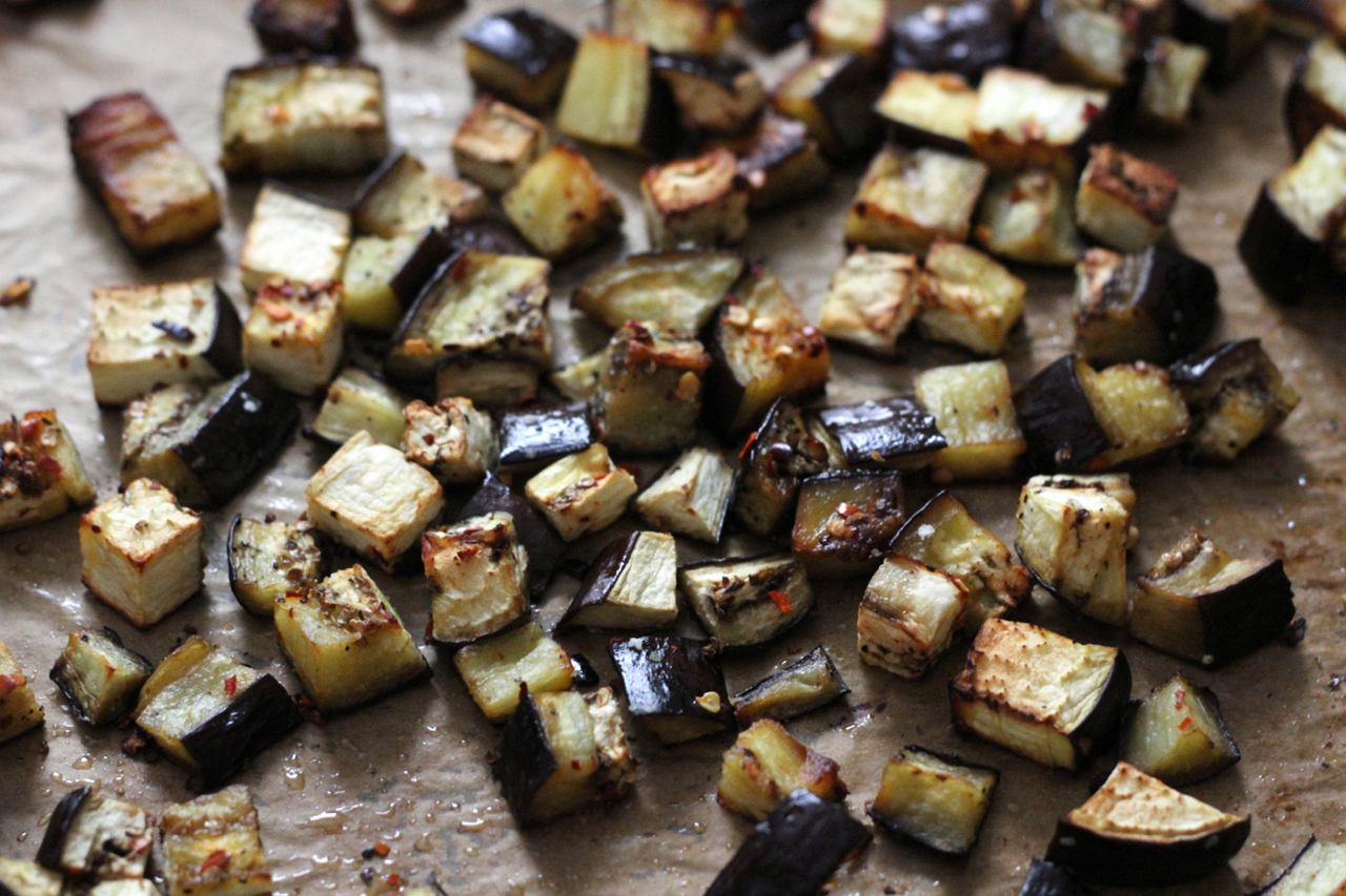 How To Roast Eggplant Cubes Recipes — Dishmaps